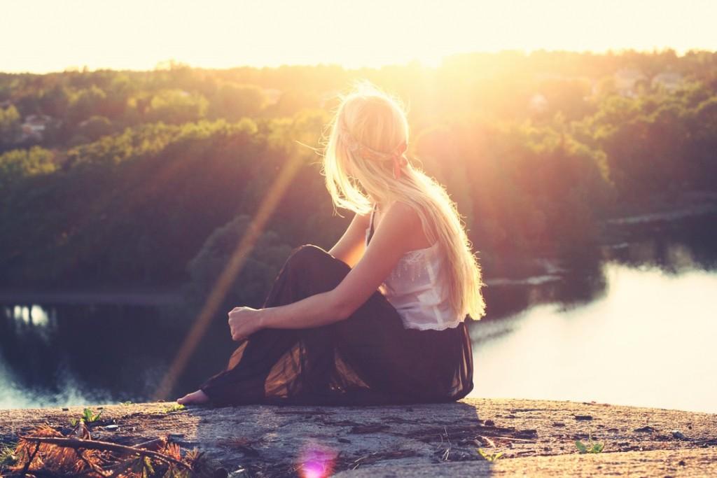 girl sunlight